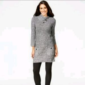STYLE & CO black white sweater dress tunic
